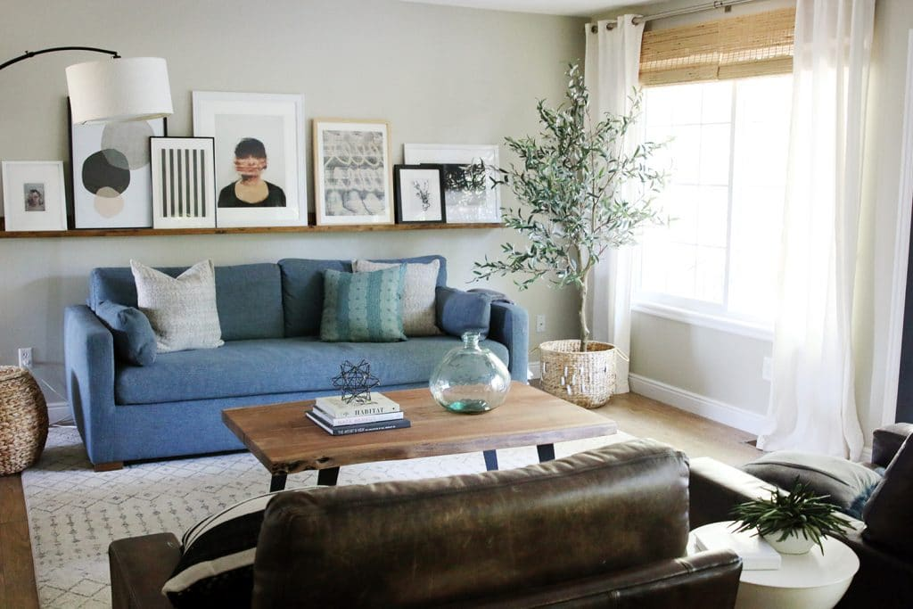 living room tree how to decorate a small apt olive trees are the new fiddle leaf fig chris loves julia we moved our into bedroom still working on window treatments and i love it in here its leaves larger is less bushy