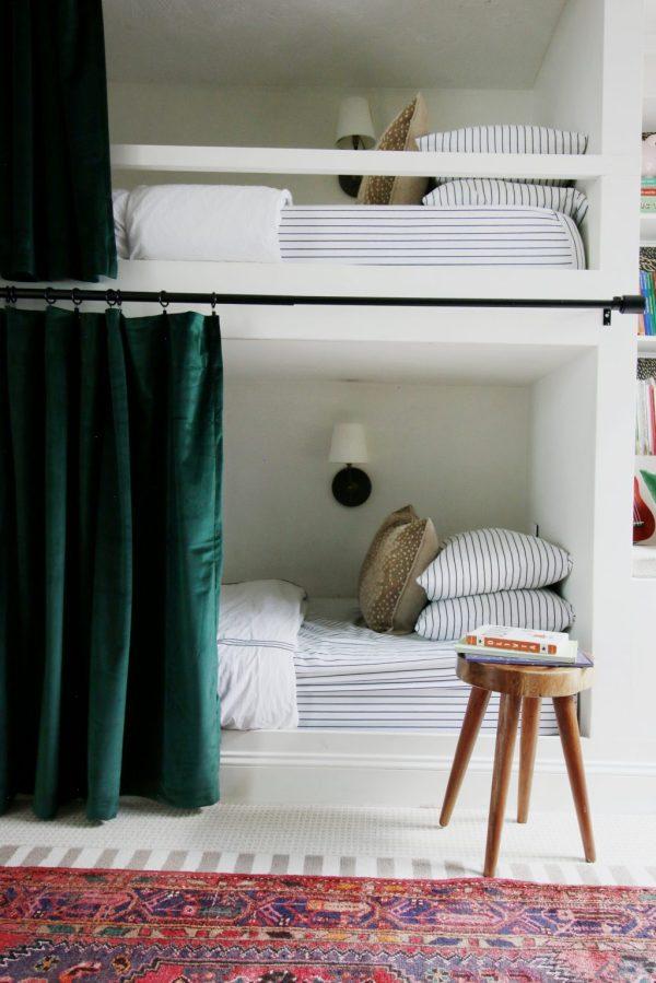 Hanging Curtains Bunk Beds - Chris Loves Julia