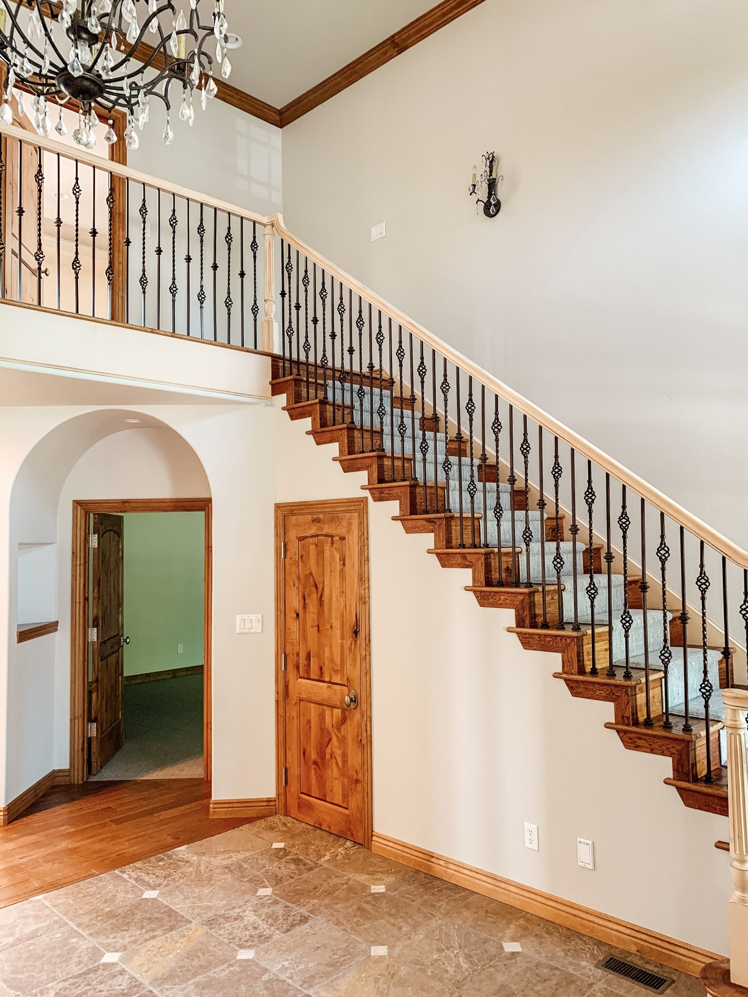 How We Completely Updated Our Stair Railings By Only Swapping Out | Wood Railings For Steps | Craftsman Style | Inside | Glass | Verandah | Stair Outdoors