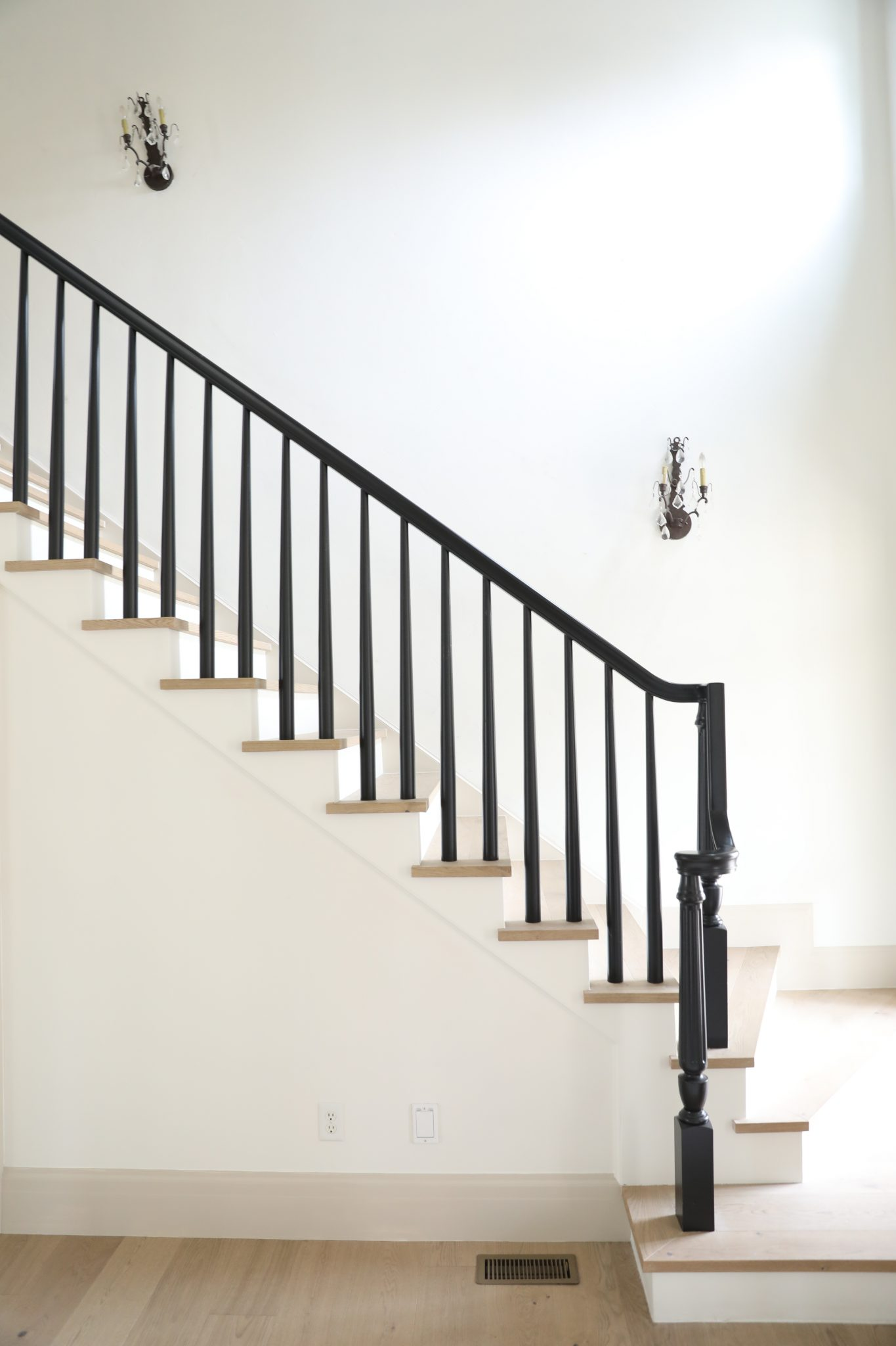 How We Decided On New Wall Sconces In The Stairwells At Last Look A Likes At Every Price Point Chris Loves Julia
