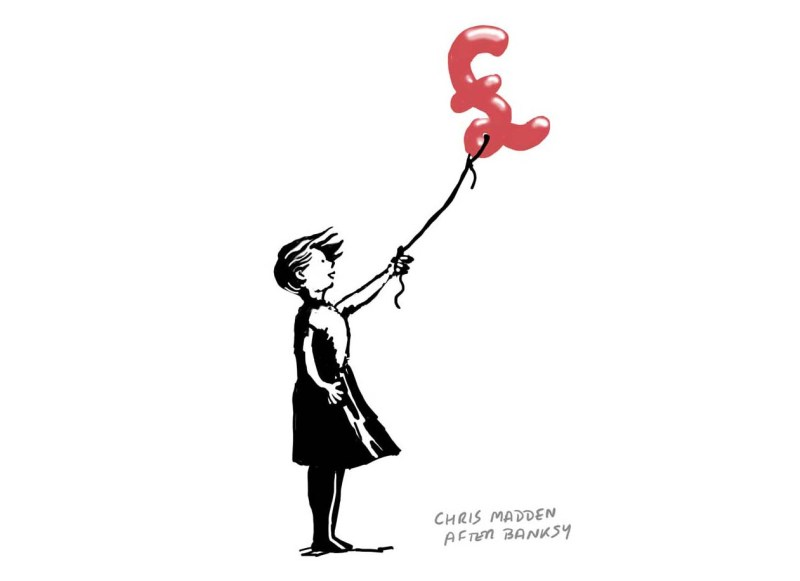 banksy girl with balloon parody - value or price in art market