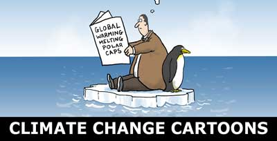 climate change cartoons and global warming cartoons