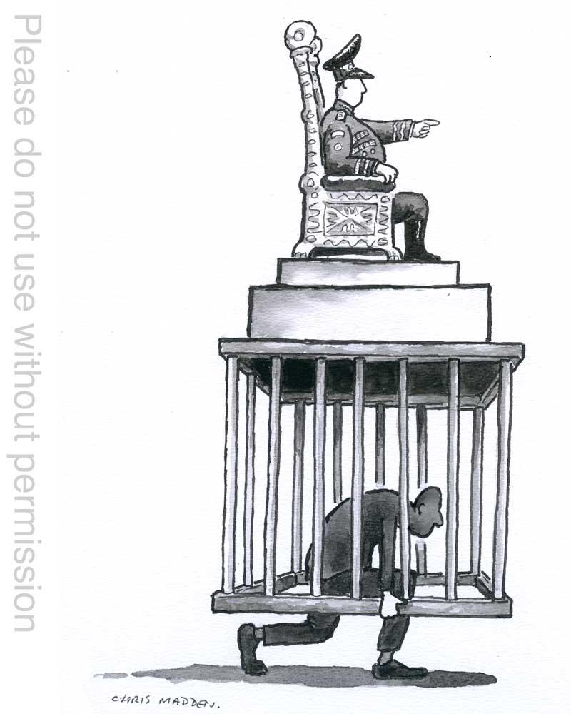 Dictator or tyrant cartoon
