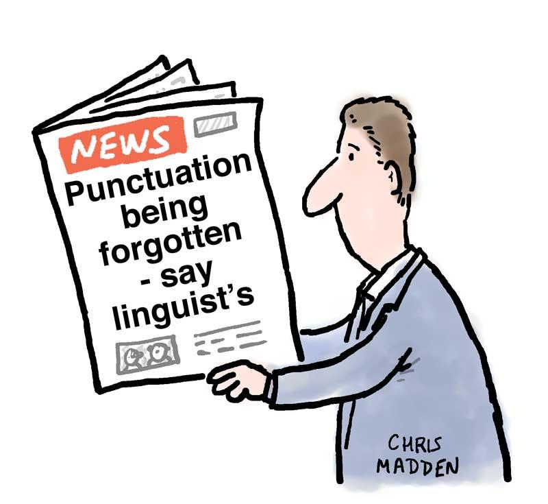 language cartoon grocers apostrophe