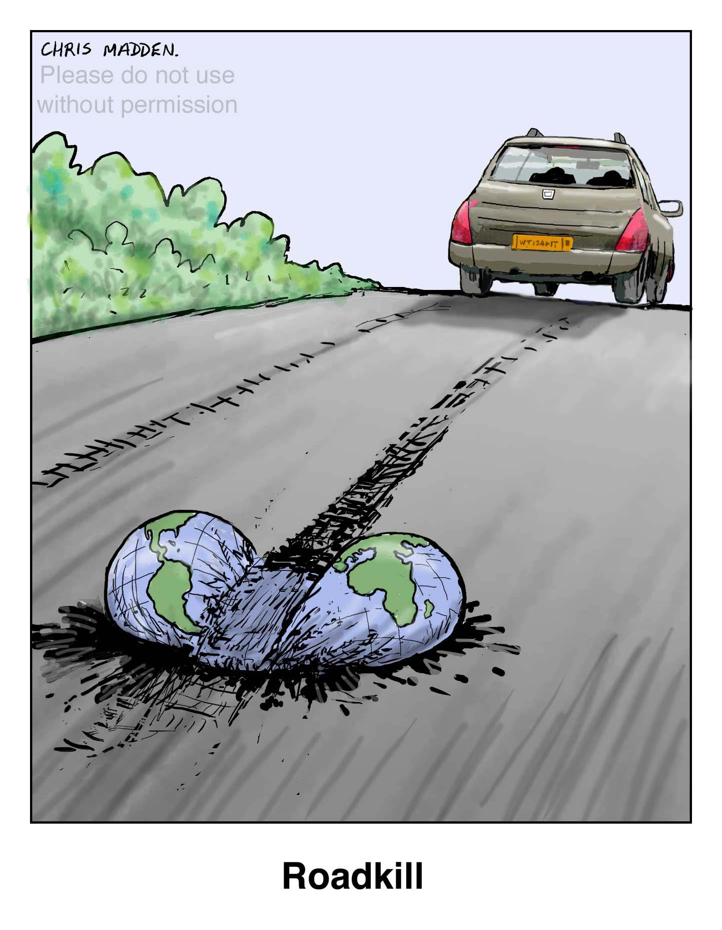 environmental cartoon – sustainable transport