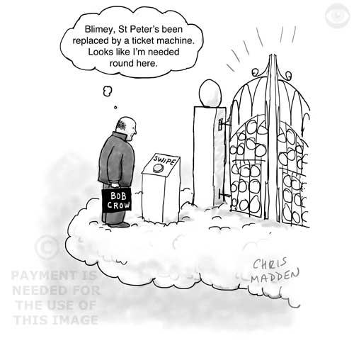 Bob Crow obituary cartoon