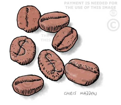 Coffee cash crop cartoon