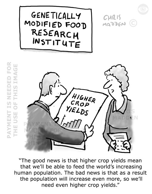 gmo food cartoon