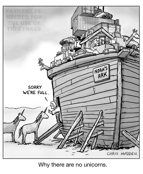 Why there were no unicorns on Noah's ark - cartoon