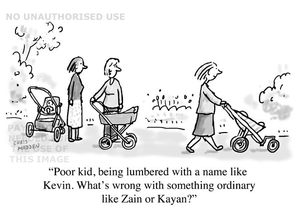 modern baby's names cartoon