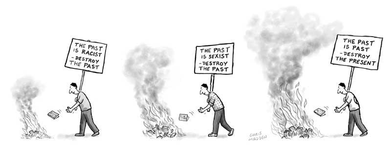 Erase the attitudes of the past cartoon