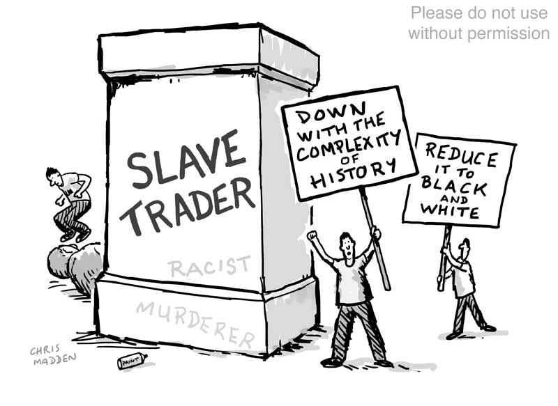 black lives matter blm statue toppling cartoon