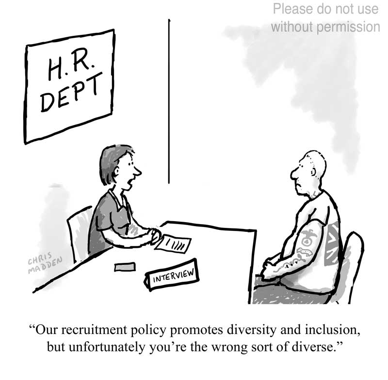 workplace diversity inclusion cartoon