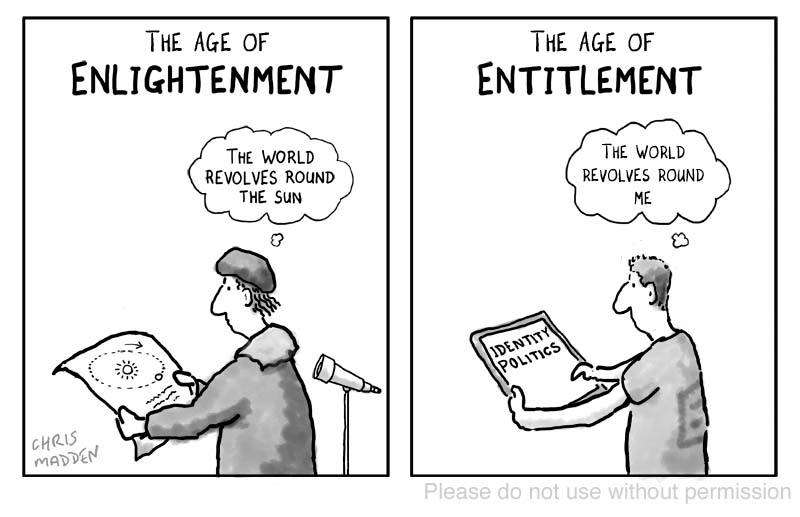 Enlightenment entitlement cartoon