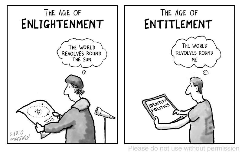 Enlightenment entitlement cartoon