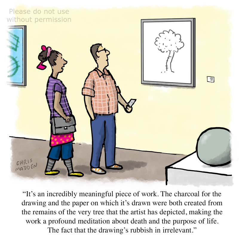 Contemporary art cartoon – the primacy of the concept