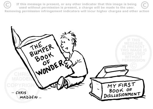 cartoon - my first book of disillusionment