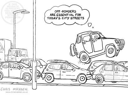 Transport cartoon: how to avoid traffic congestion using