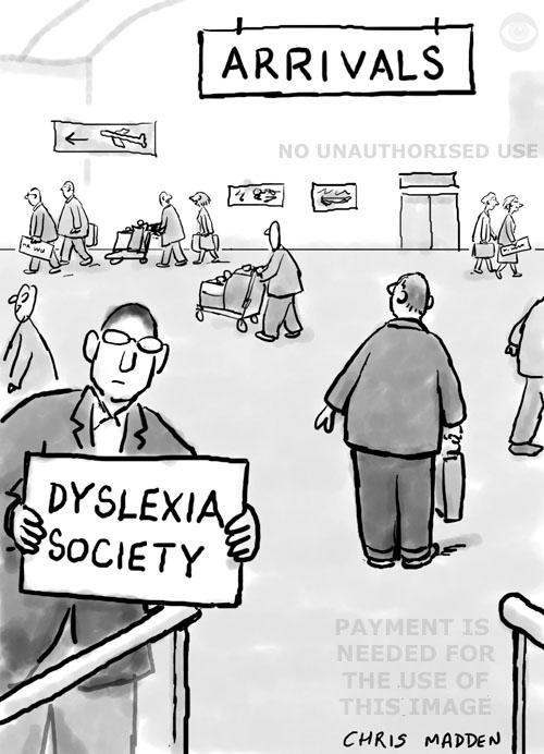 dyslexia cartoon
