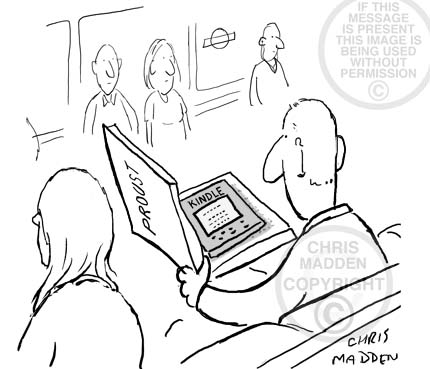 Amazon Kindle cartoon