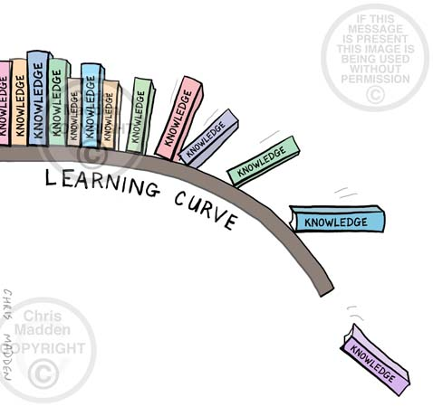 Learning curve cartoon