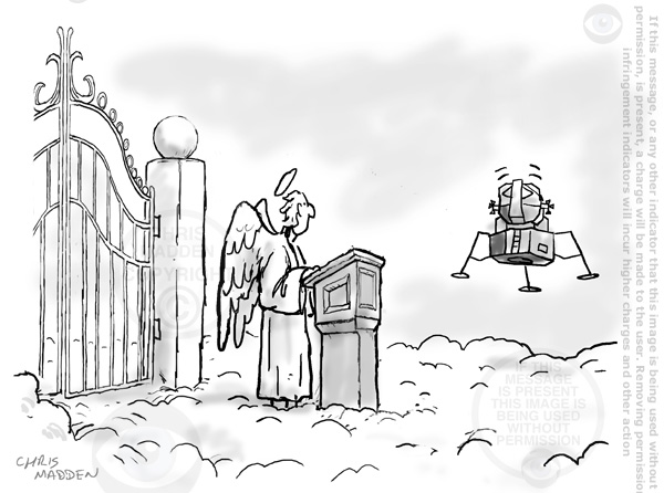 neil armstrong dies - cartoon