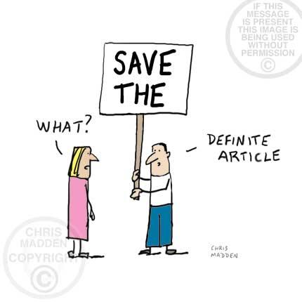 Modern grammar cartoon