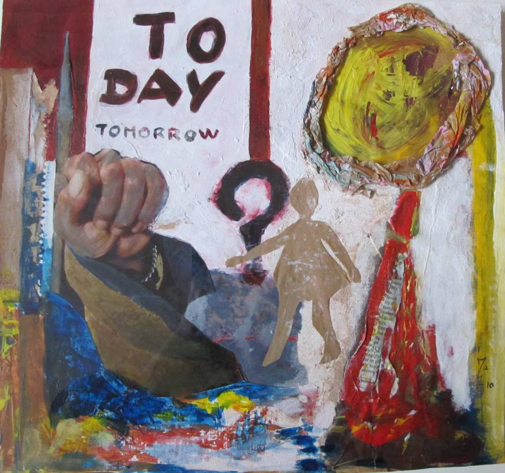 Today Tomorrow - techniques mixtes - 30* 30