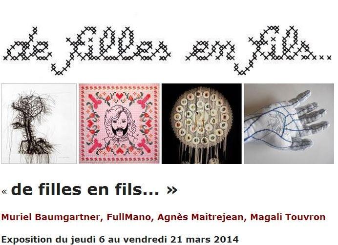 Exposition textile » de filles en fils » à la galerie le cabinet d'amateur