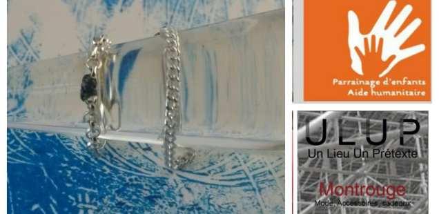 Chrismali est chez Ulup à Montrouge jusqu'au 24/12,1 avenue Verdier 92 Montrouge, Les Chrismaliens ont leur bague; bague chaîne avec perle de fil