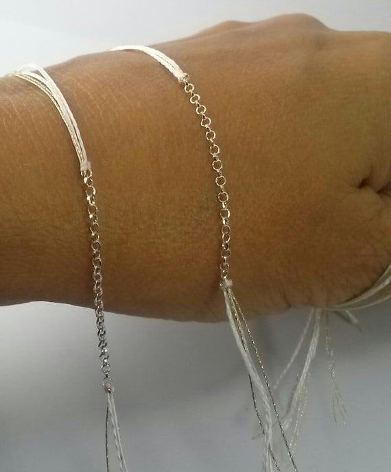 bracelet blanc doré