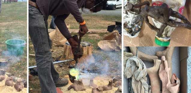 La technique de la fonte à cire perdue avec Souleymane Traoré maître bronzier du Burkina Faso