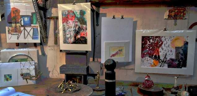 L'univers de chrismali s'est posé dans l'atelier enchanteur de Françoise Darras