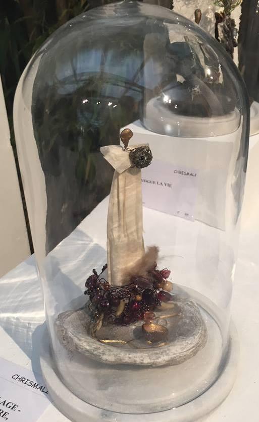 Chrismali l-la princesse coquillage - expo du cercle des artiste de Paris