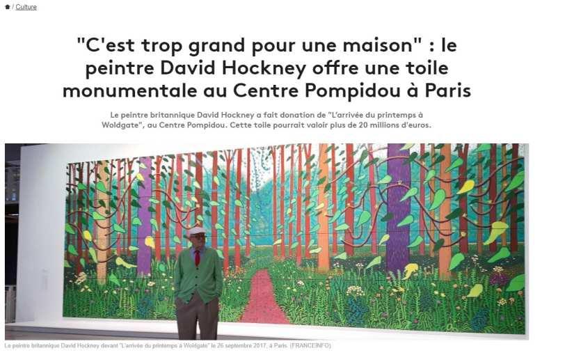 David Hockney à Beaubourg – 60 ans de peinture et arts visuels