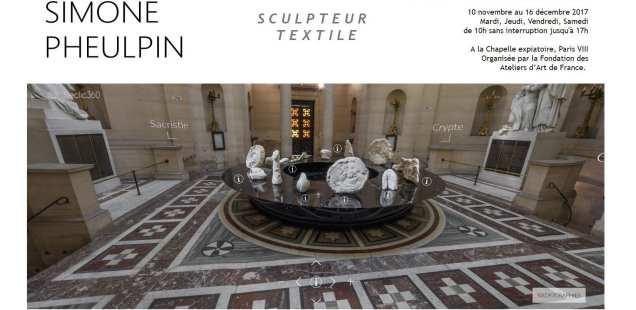 Un monde de plis,  Simone Pheulpin à la Chapelle expiatoire, Paris