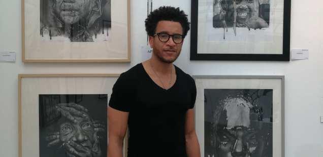 Lucien Pinaud - Portraitiste graphite - Expo du Cercle des Artistes de Paris