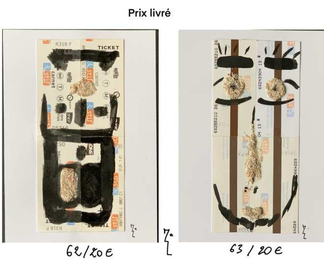 Planche 9 - Miniatures tickets de métro 62 et 63