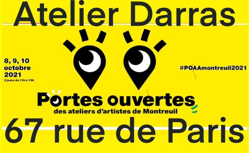 Portes ouvertes ateliers d'artistes Montreuil – 8, 9 et 10 octobre l'atelier de Françoise Darras.