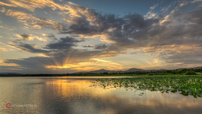 Quanah Parker Lake Sunset, Wichita Mountain Wildlife Refuge, Lawton, OK