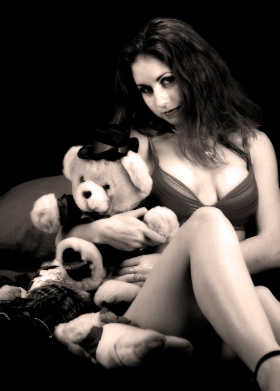 Damsel with stuffed animals
