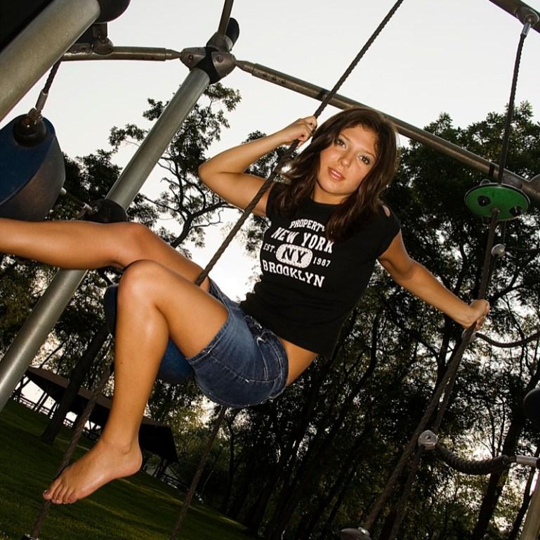 Mandie on rope swing