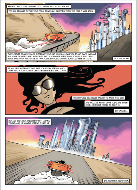 The Undying City, page 2. Artwork by Nich Angell.