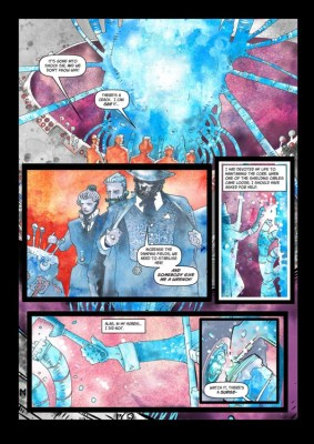 The Royal Chronometrical Society, page 3. Art by Neil McClements, letters by Bolt-01.