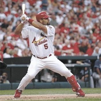 Albert Pujols batting stance