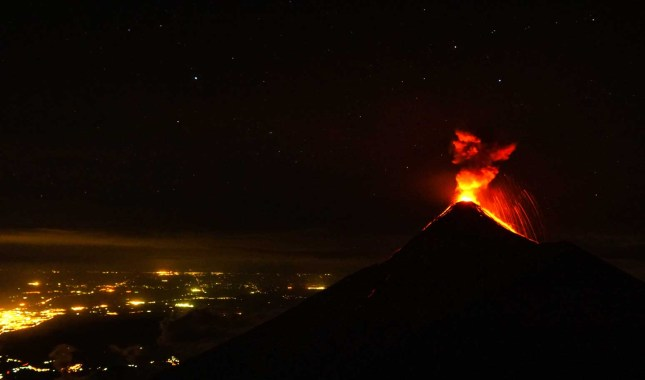 "Volcano ""Fuego"" eruption in Guatemala"