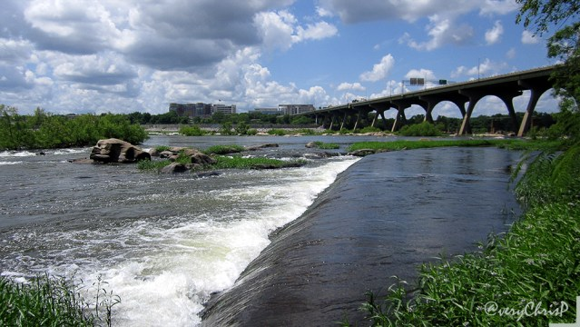 The James River from the Pipeline Rapids Walkway.