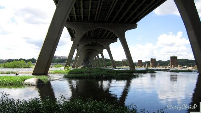 Under the Manchester Bridge near Brown's Island.