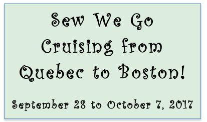 quilt cruise Quebec to Boston