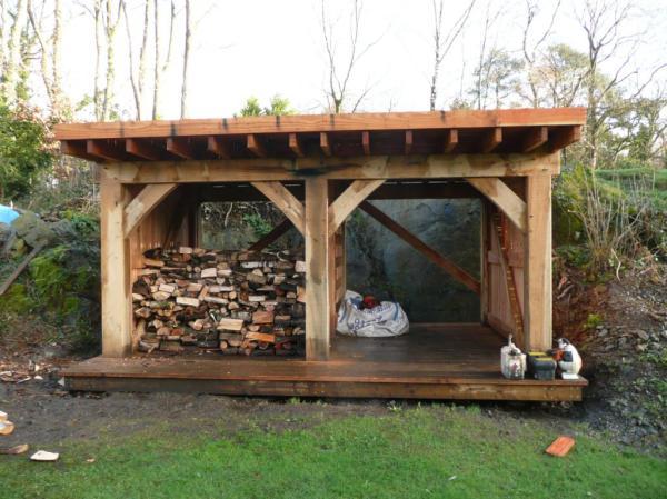 oak frame timber garden shed